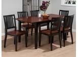 Madison County Brown / Charcoal 7PC Rectangle Table Set - 841-66