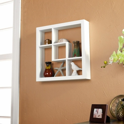 SEI Madison Display Shelf White 16