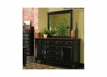 Madison Dresser Black and Cherry - Largo - LARGO-ST-B1251A-10