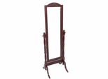Mahogany Finish Cheval Mirror - Meridian Group - CVH6113