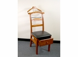 Manchester Walnut Valet Chair with Drawer - Proman Suit Valet - VL16123