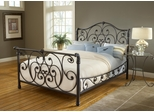 Mandalay King Size Bed in Rustic Old Brown - Hillsdale Furniture - 1579BKR
