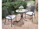 Marble Bistro Table and 2 Laguna Dining Arm Chairs - Home Styles - 5605-340