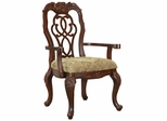 Marisol Dining Scroll Ribbon Back Arm Chair - Set of 2 - 103443