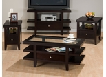 Marlon Wenge 4PC Sofa, Coffee, End and Chairside Table Set - 091-1