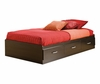 Mates Bed Box in Black Onyx/Charcoal - South Shore Furniture - 3127080