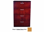 Mayline 4-Drawer Lateral Filing Cabinet in Golden Cherry - VLF4GCH