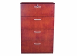 Mayline 4-Drawer Lateral Filing Cabinet in Sierra Cherry - VLF4CRY
