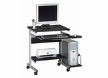 Mayline Computer Cart in Anthracite/Metallic Gray - 946ANT