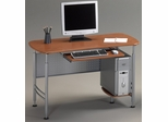 Mayline Computer Desk in Medium Cherry/Metallic Gray - 925MEC