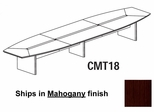 Mayline Corsica 18 Feet Boat-shaped Conference Table in Mahogany - CMT18MAH