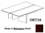 Mayline Corsica 6 Feet Conference Table Adder Section in Mahogany - CMT72AMAH