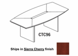 Mayline Corsica 8 Feet Boat-shaped Conference Table in Sierra Cherry - CTC96CRY
