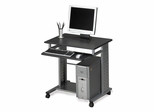 Mayline Home Computer Cart in Anthracite/Metallic Gray - 945ANT
