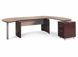 Mayline Napoli Executive Office Package 3 in Mahogany