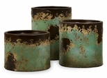 Mazatlan Pillar Candleholders (Set of 3) - IMAX - 6866-3