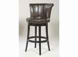 "MBS-01 26"" Crown Swivel Barstool in Brown Leather / Espresso - Armen Living - LCMBS01SWBABR26"