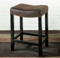 """MBS-013 Tudor Backless 26"""" Stationary Barstool in Wrangler Brown - Armen Living - LCMBS013BAWR26"""