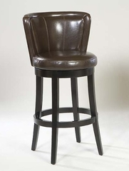 """MBS-11 Lisbon 26"""" Swivel Barstool in Brown Leather / Espresso - Armen Living - LCMBS11SWBABR26"""