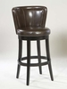 """MBS-11 Lisbon 30"""" Swivel Barstool in Brown Leather / Espresso - Armen Living - LCMBS11SWBABR30"""