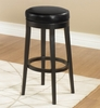 """Mbs-450 30"""" Backless Swivel Barstool in Black Leather / Espresso - Armen Living - LC450BABL30"""
