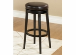 """MBS-450 30"""" Backless Swivel Barstool in Brown Leather / Espresso - Armen Living - LC450BABC30"""