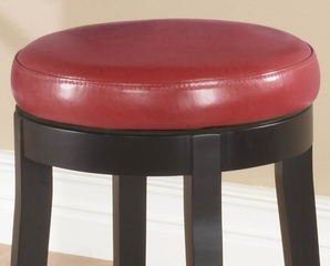 """MBS-450 30"""" Backless Swivel Barstool in Red Leather / Espresso - Armen Living - LC450BARE30"""