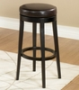 MBS-450 Backless Swivel Barstool in Brown Leather / Espresso - Armen Living - LC450BABC