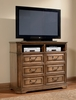 Media Chest - Edgewood Media Chest in Warm Brown Oak - Coaster - 201626