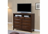 Media Chest - Hillary Media Chest in Warm Brown - Coaster - 200648