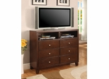 Media Chest - Lorretta Media Chest in Deep Brown - Coaster - 201516