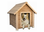 Medium Size Bunkhouse Style Dog House in Natural Cedar - NewAgeGarden - ECOH101M