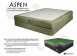 "Memory Foam Mattress - 8"" Aspen Twin Size Mattress - SilverRest - SRMASPMEM-30"