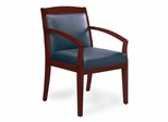 Mercado Leather Side Chair in Mahogany - Mayline Office Furniture - VSCAMAH