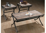 Meredith 3PC Cocktail Table Set with Techmetric Marble Veneer - 113