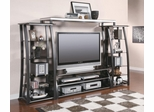 Metal and Glass Wall Unit in Black - 700681