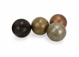 "Metallic Finish 5"" Globe Spheres (Set of 4) - IMAX - 5550-4"