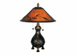 Mica Leafs Table Lamp - Dale Tiffany