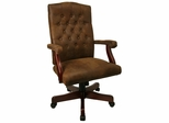 Microfiber Office Chair - High Back Traditional Executive Swivel Chair - 802-BRN-GG