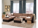 Microfiber Sectional Sofa Set - 8 Piece in Brown Microfiber - Coaster
