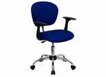 Mid-Back Blue Mesh Task Chair - H-2376-F-BLUE-ARMS-GG