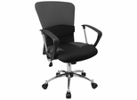 Mid Back Contemporary Grey Mesh Ventilated Chair - LF-W23-GREY-GG