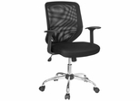 Mid Back Contemporary Mesh Ventilated Chair - LF-W95-MESH-BK-GG