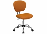 Mid-Back Orange Mesh Task Chair - H-2376-F-ORG-GG