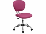 Mid-Back Pink Mesh Task Chair - H-2376-F-PINK-GG