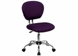 Mid-Back Purple Mesh Task Chair - H-2376-F-PUR-GG