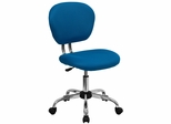 Mid-Back Turquoise Mesh Task Chair - H-2376-F-TUR-GG