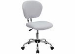 Mid-Back White Mesh Task Chair - H-2376-F-WHT-GG