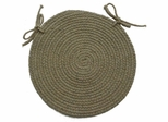 "Millennium Periwinkle 15"" Braided Chair Pad - Rhody Rug - M-91415CPPW"