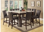 Milton 9 Piece Marble Top Counter Height Table Set - 103778